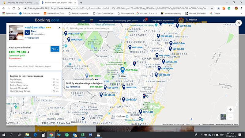 Booking Mapa