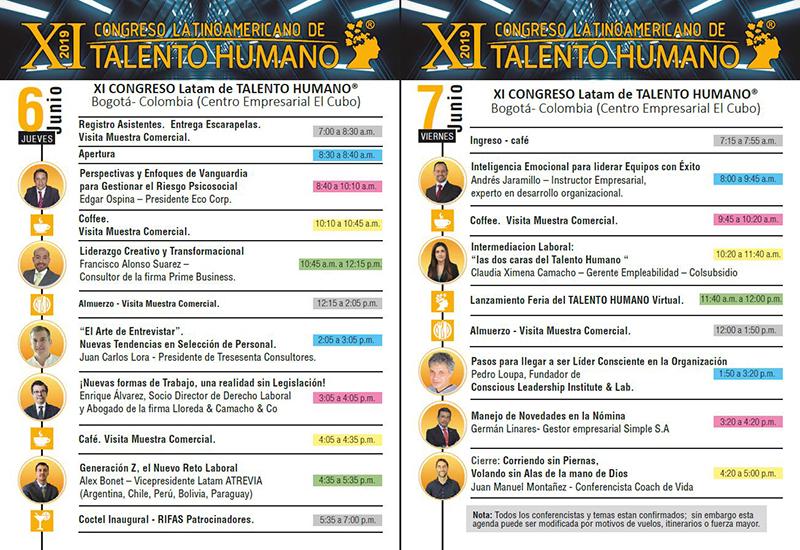 Agenda XI Congreso Latinoamericano TH 2019